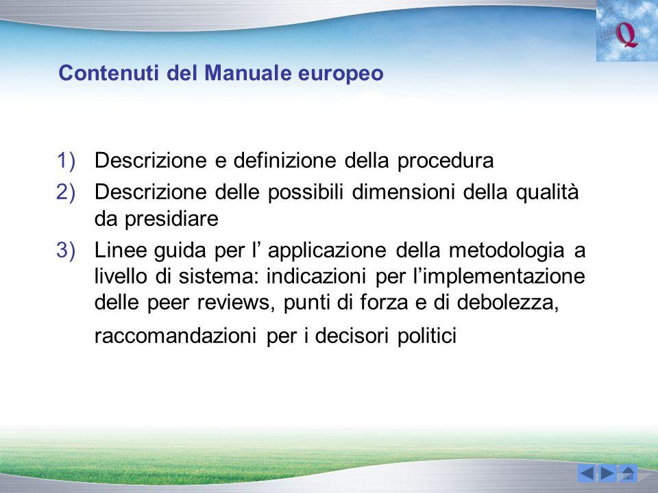 Contenuti del Manuale europeo