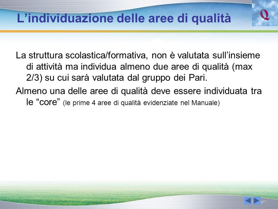 L'individuazione delle aree di qualità