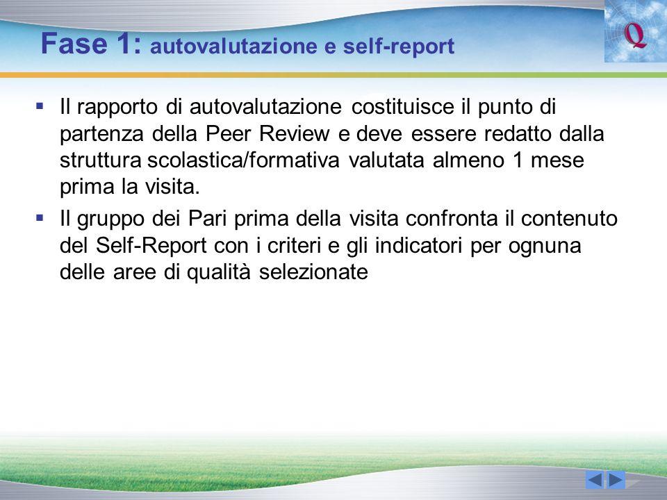Fase 1: autovalutazione e self-report