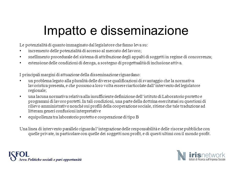 Impatto e disseminazione