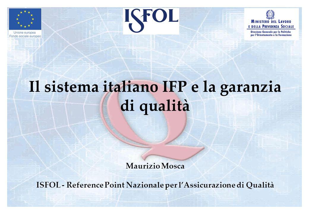 Il sistema italiano IFP e la garanzia di qualità