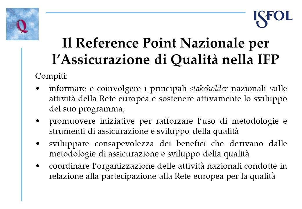 Il Reference Point Nazionale per l'Assicurazione di Qualità nella IFP