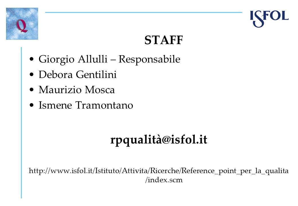 STAFF rpqualità@isfol.it