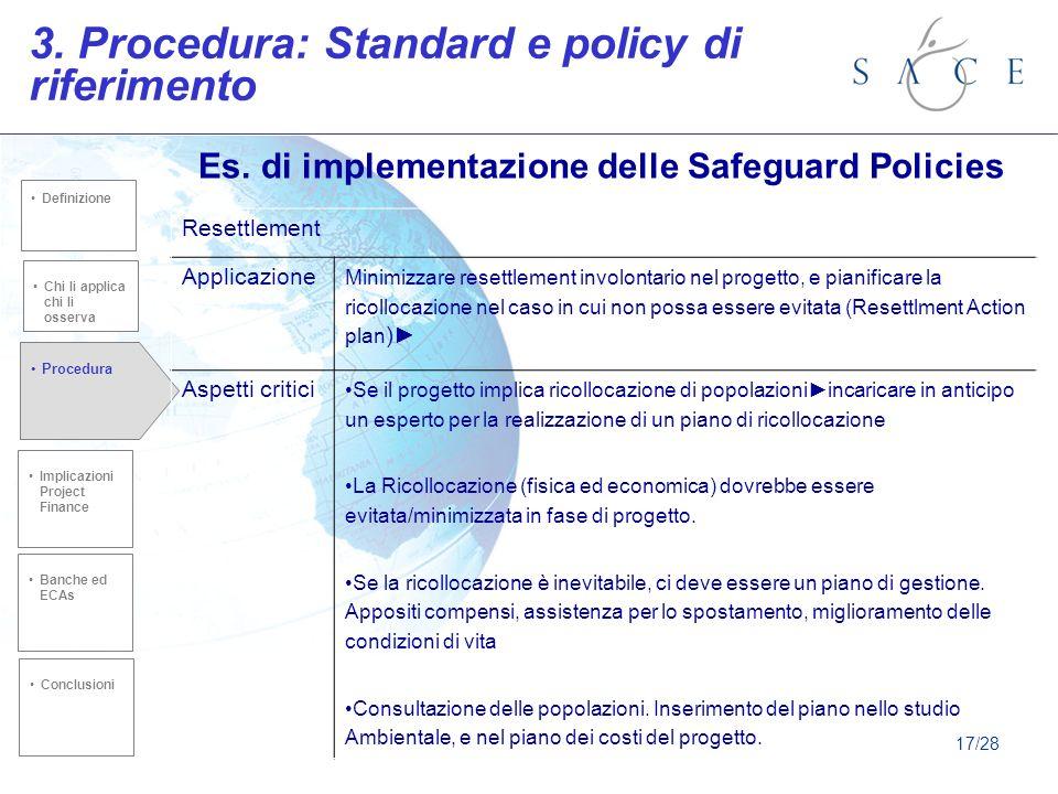 Es. di implementazione delle Safeguard Policies