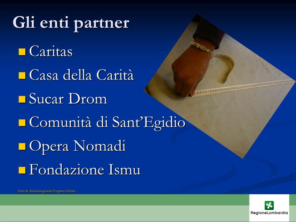 Gli enti partner Caritas Casa della Carità Sucar Drom