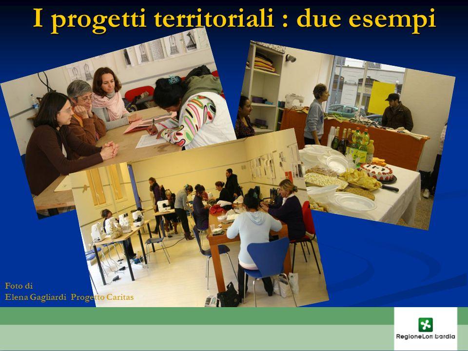 I progetti territoriali : due esempi