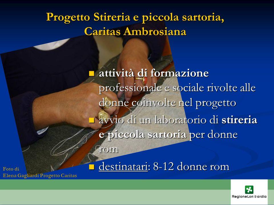 Progetto Stireria e piccola sartoria, Caritas Ambrosiana