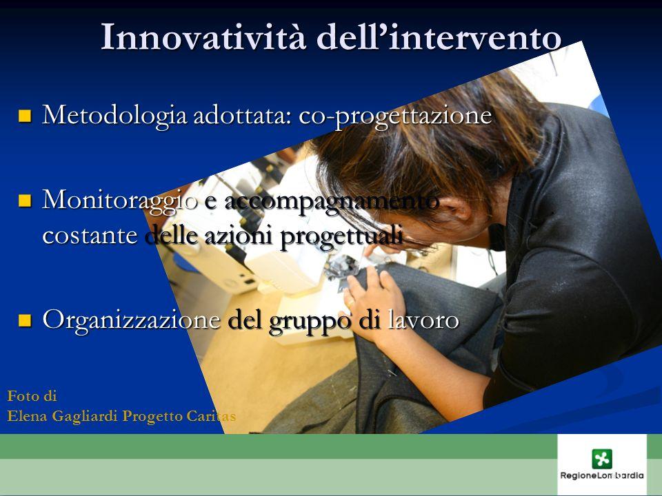 Innovatività dell'intervento