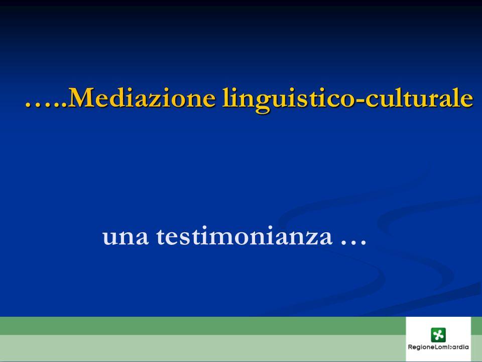 …..Mediazione linguistico-culturale