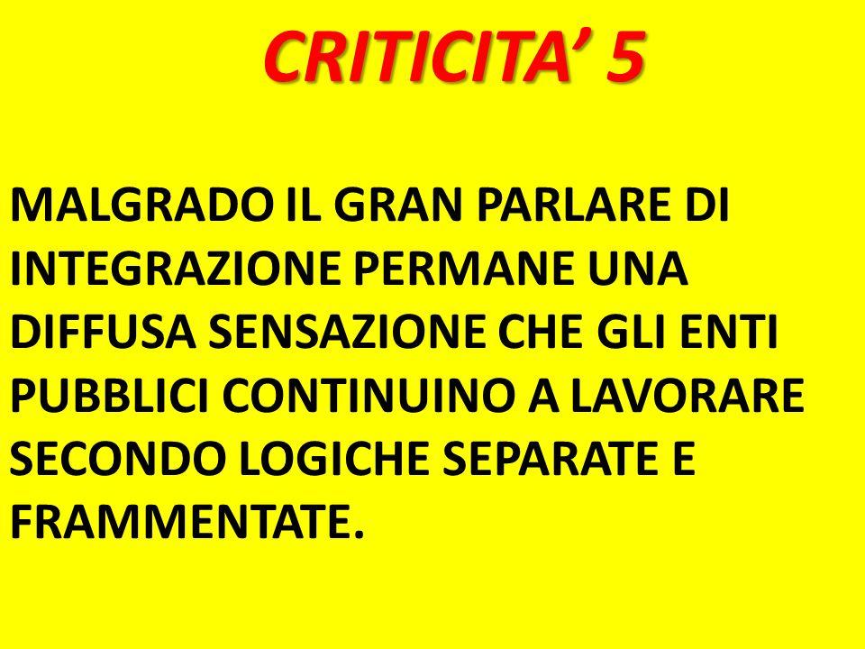 CRITICITA' 5
