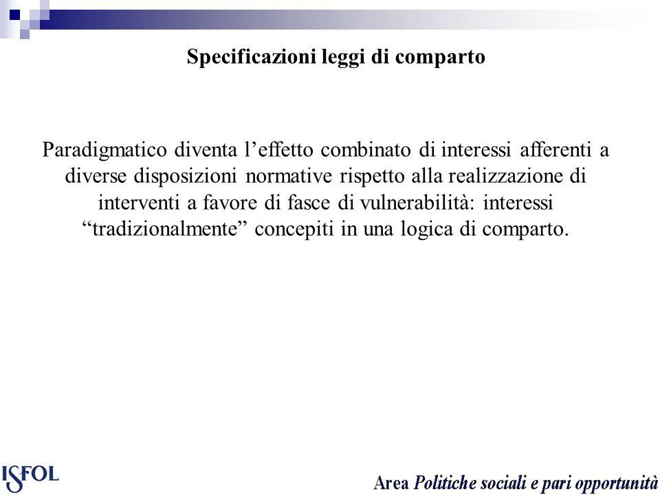 Specificazioni leggi di comparto