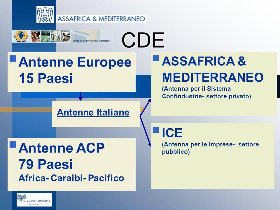 CDE Antenne Europee 15 Paesi