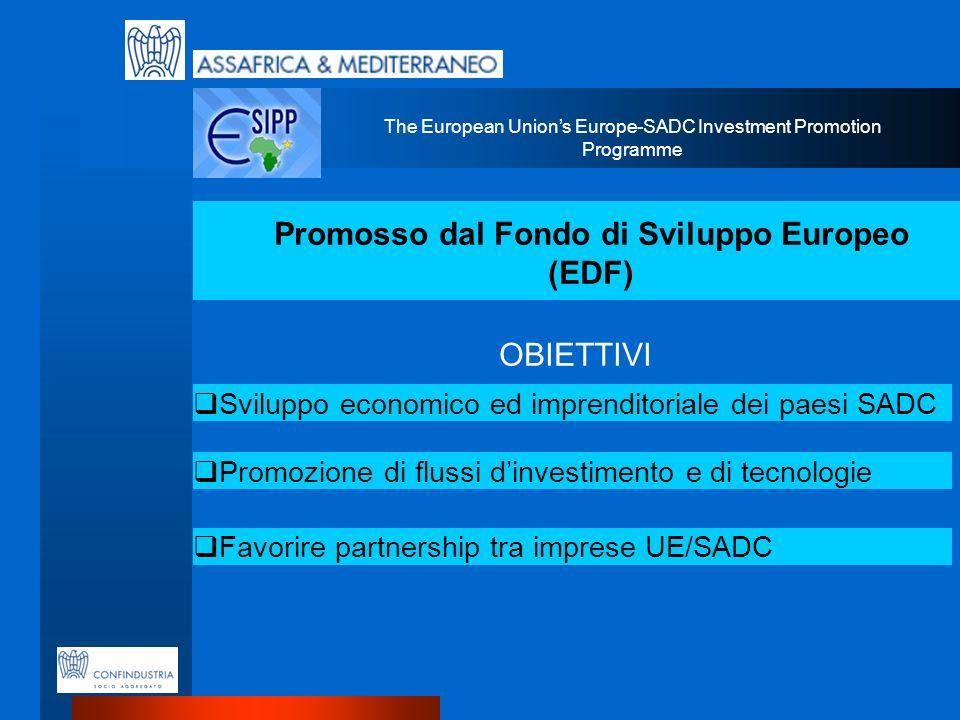 Promosso dal Fondo di Sviluppo Europeo (EDF)