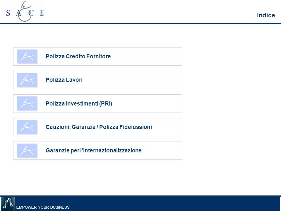 Indice Polizza Credito Fornitore Polizza Lavori