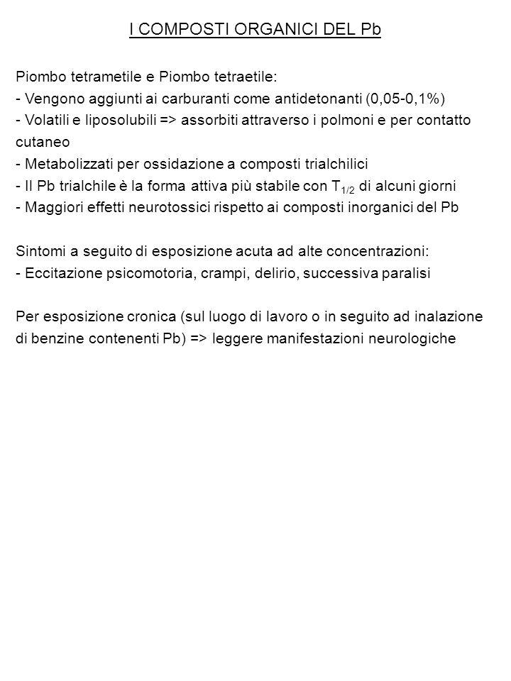 I COMPOSTI ORGANICI DEL Pb