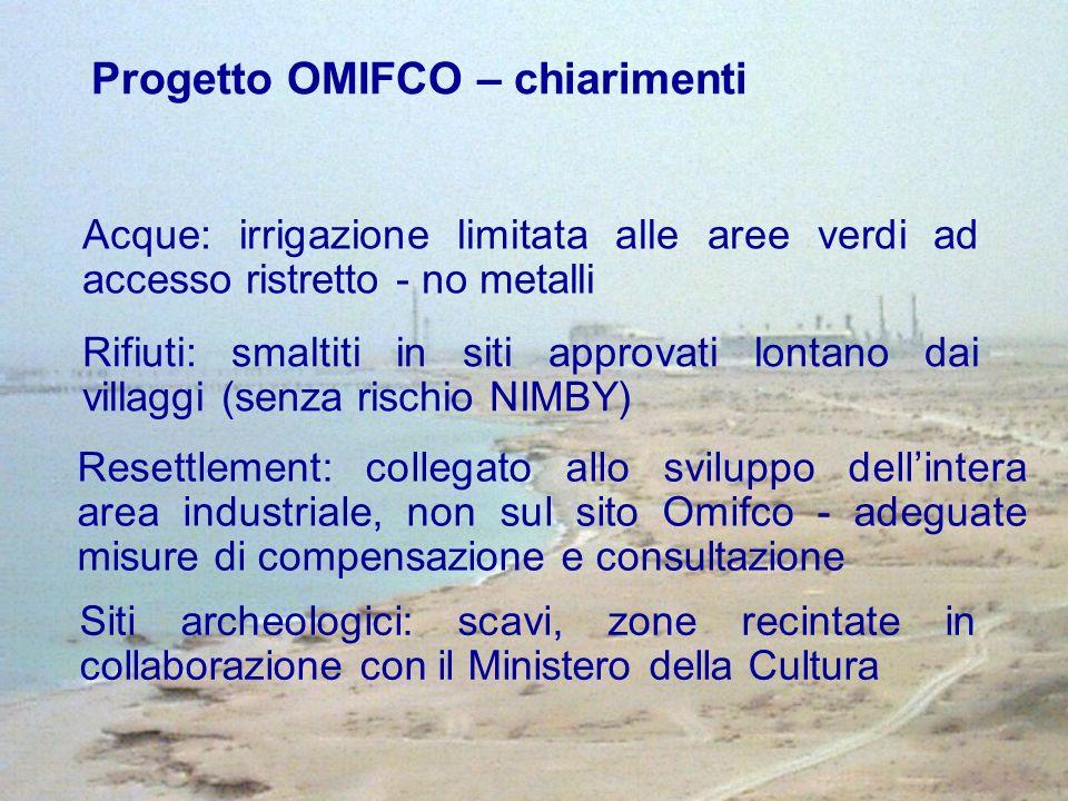 Progetto OMIFCO – chiarimenti