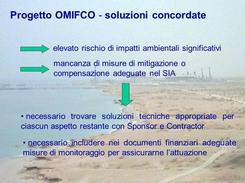 Progetto OMIFCO - soluzioni concordate