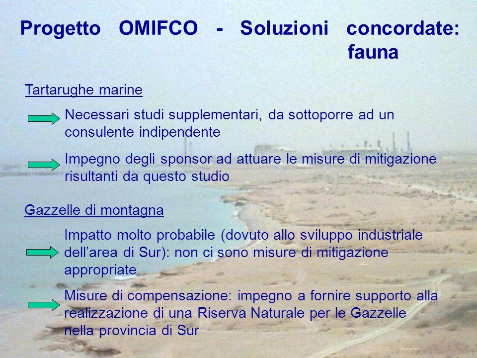 Progetto OMIFCO - Soluzioni concordate: fauna