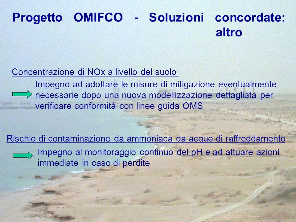 Progetto OMIFCO - Soluzioni concordate: altro