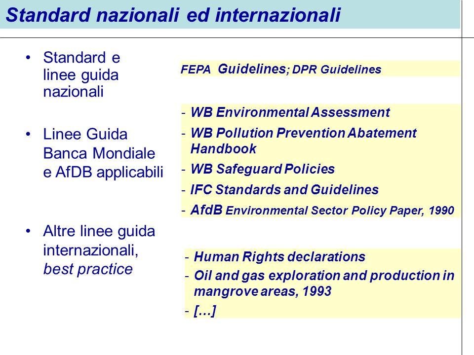 Standard nazionali ed internazionali