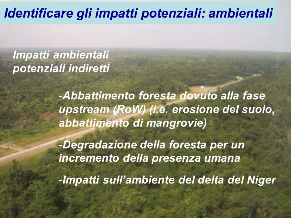 Identificare gli impatti potenziali: ambientali