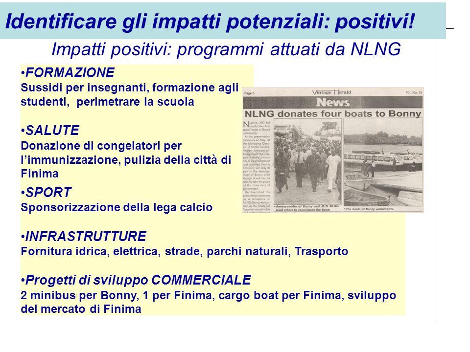 Impatti positivi: programmi attuati da NLNG