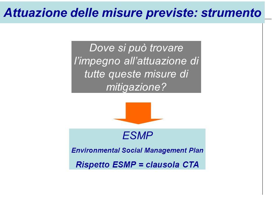 Attuazione delle misure previste: strumento