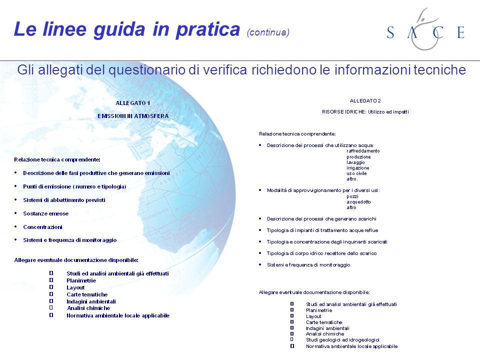 Le linee guida in pratica (continua)