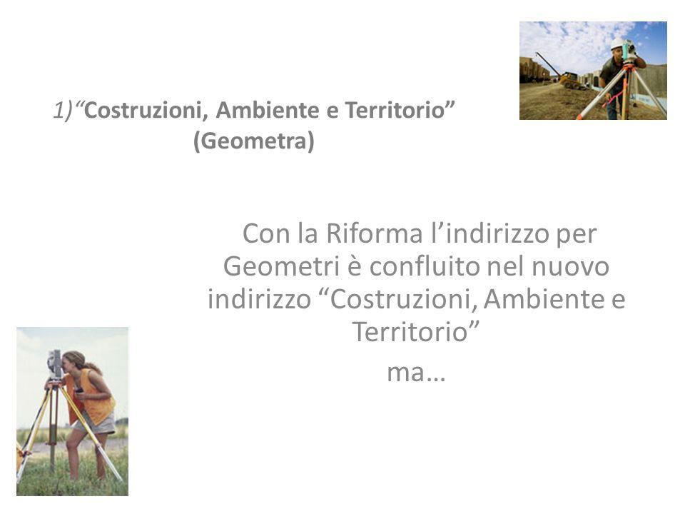1) Costruzioni, Ambiente e Territorio (Geometra)