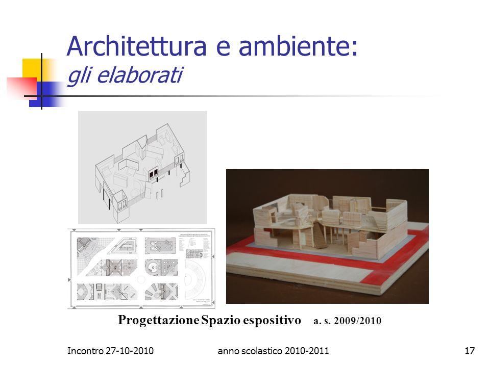 Architettura e ambiente: gli elaborati