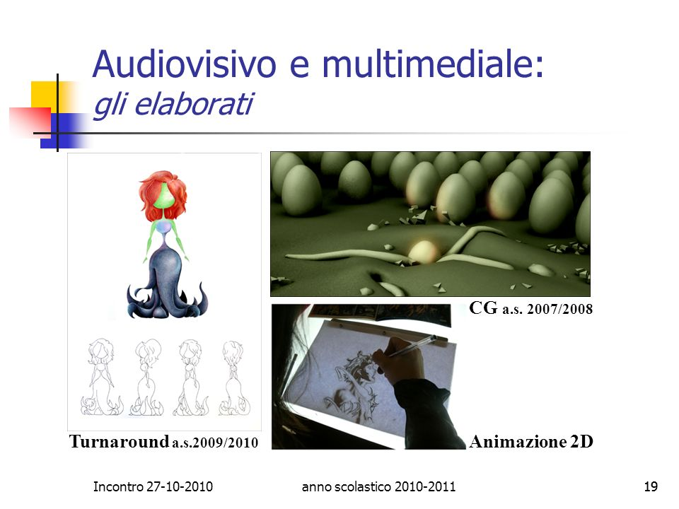 Audiovisivo e multimediale: gli elaborati