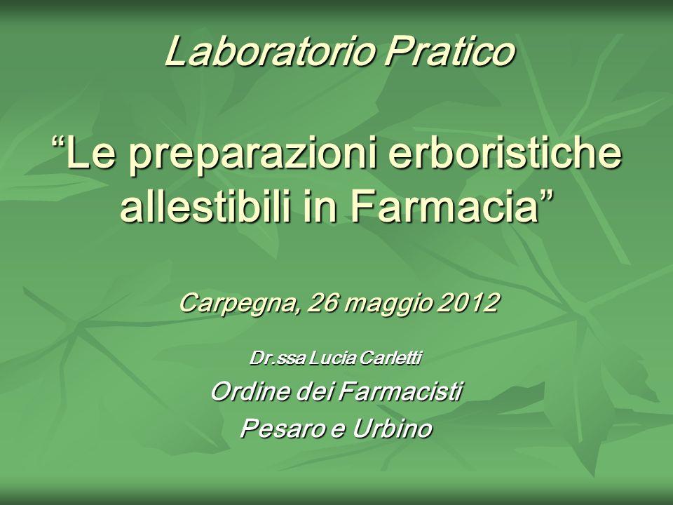 Dr.ssa Lucia Carletti Ordine dei Farmacisti Pesaro e Urbino