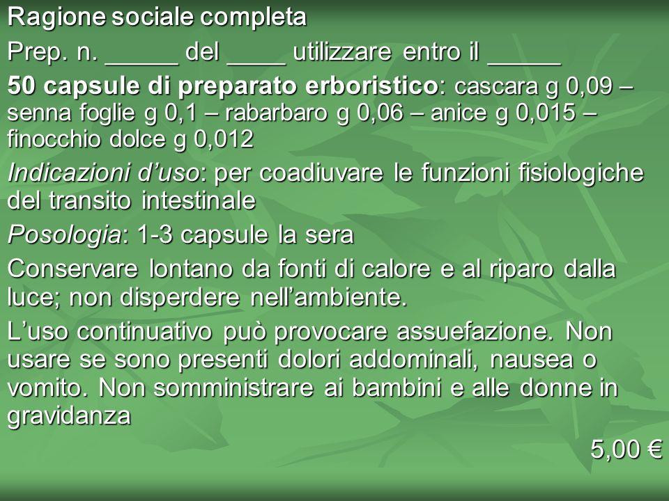 Ragione sociale completa