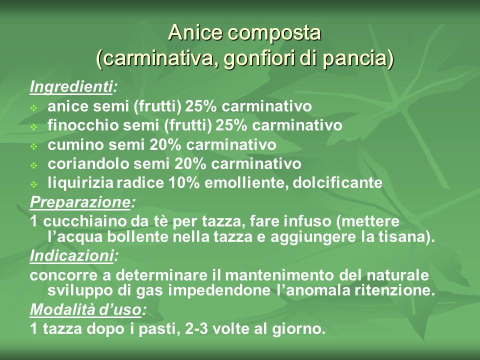Anice composta (carminativa, gonfiori di pancia)
