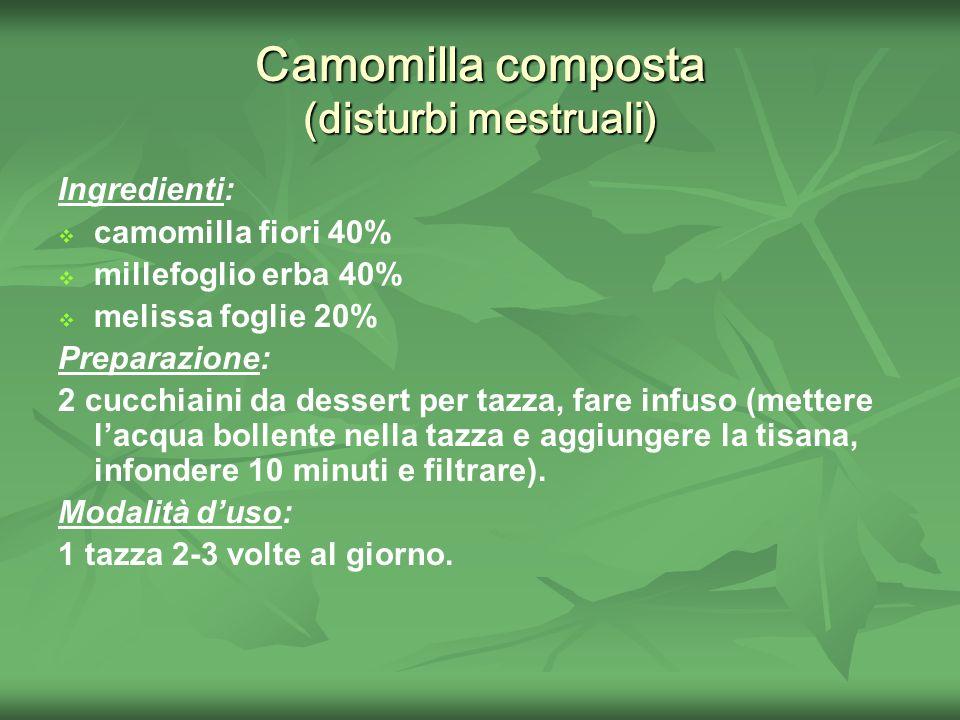 Camomilla composta (disturbi mestruali)