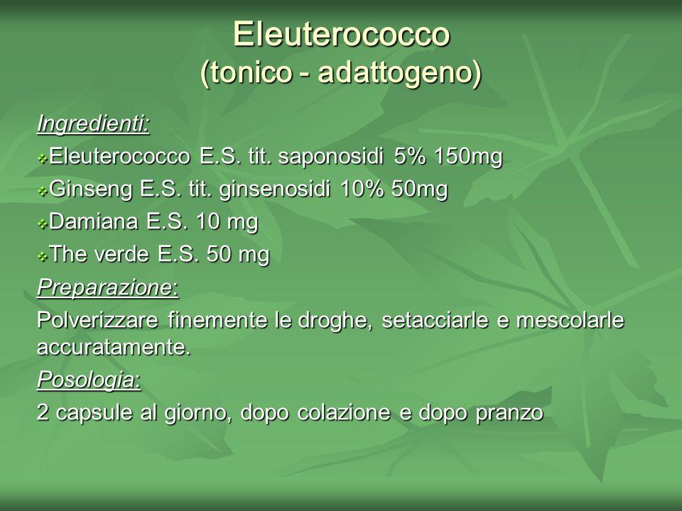 Eleuterococco (tonico - adattogeno)
