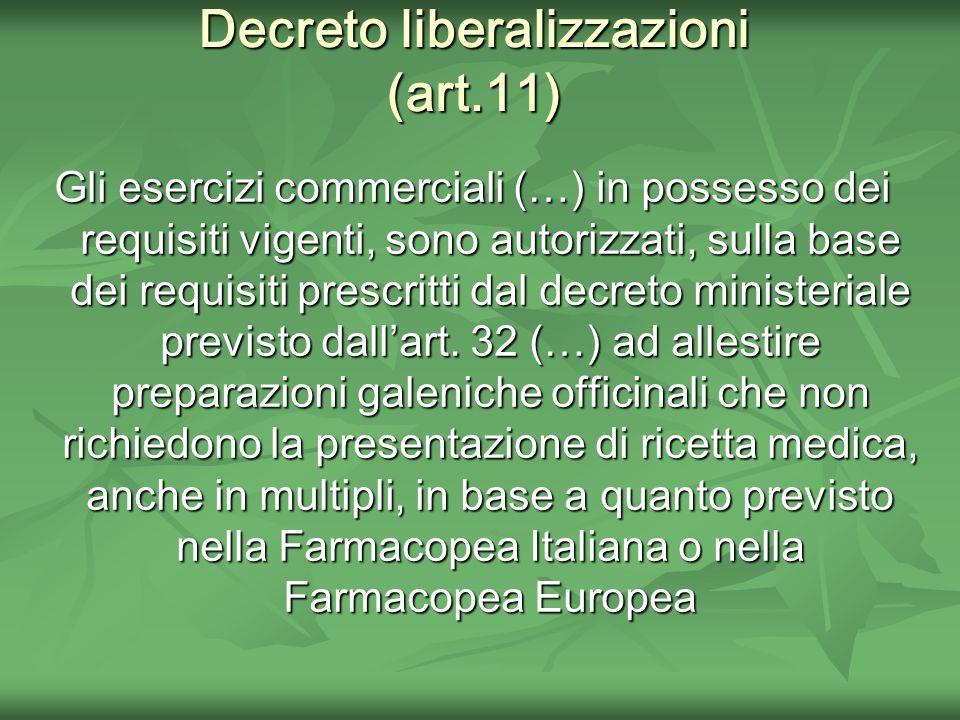 Decreto liberalizzazioni (art.11)