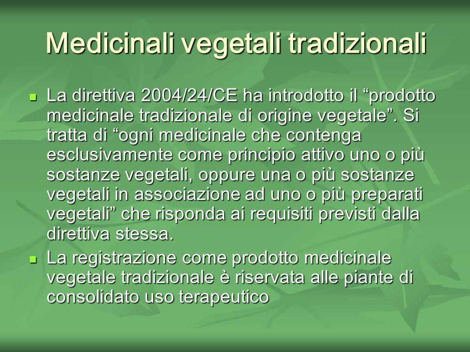 Medicinali vegetali tradizionali