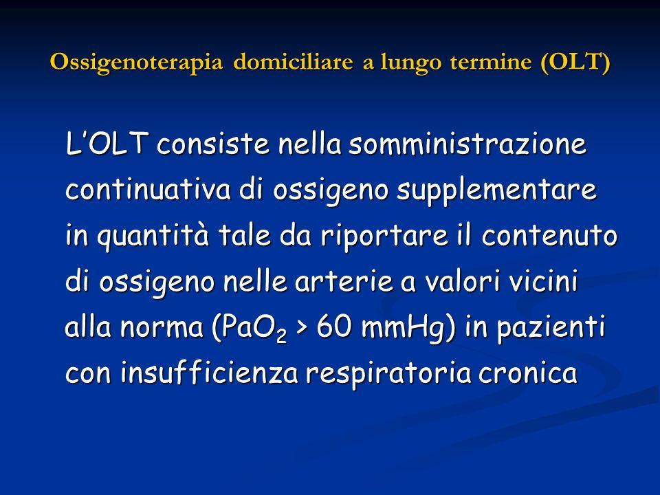 Ossigenoterapia domiciliare a lungo termine (OLT)