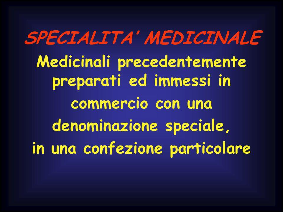 SPECIALITA' MEDICINALE