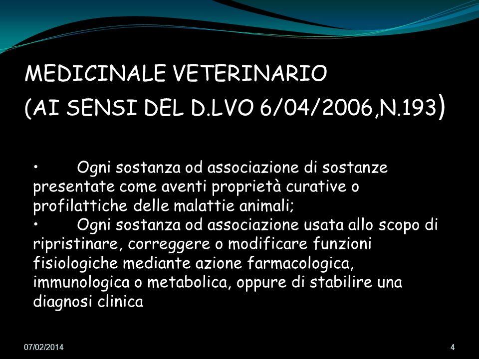 MEDICINALE VETERINARIO (AI SENSI DEL D.LVO 6/04/2006,N.193)