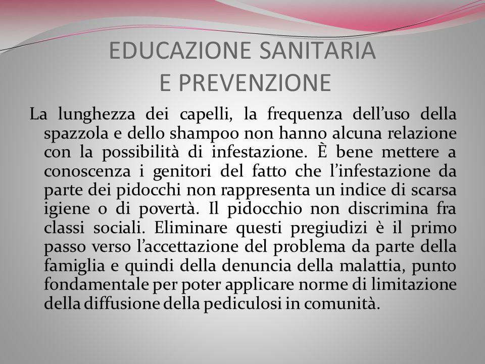EDUCAZIONE SANITARIA E PREVENZIONE