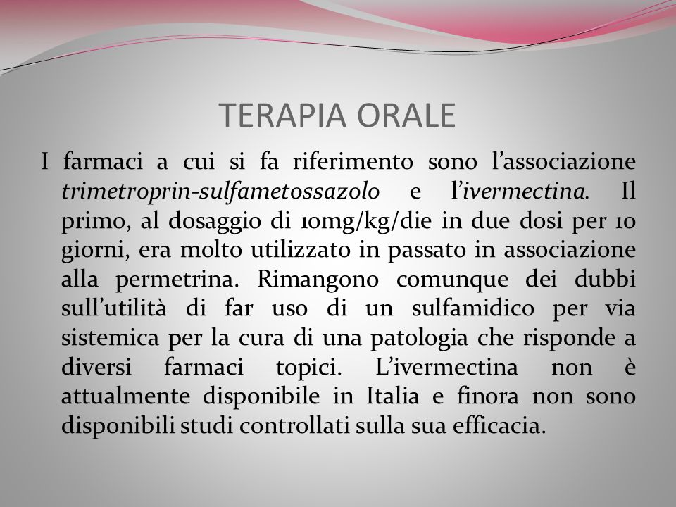 TERAPIA ORALE
