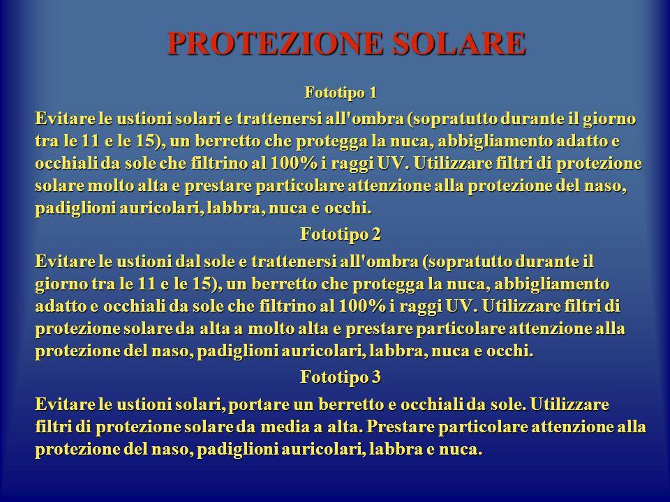 PROTEZIONE SOLARE Fototipo 1.