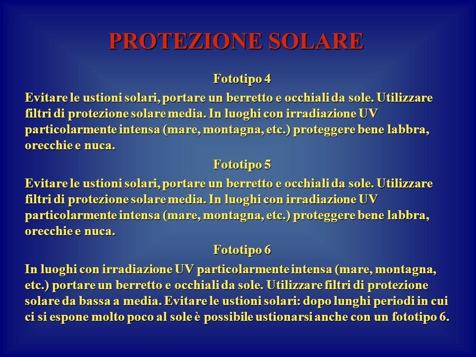 PROTEZIONE SOLARE Fototipo 4