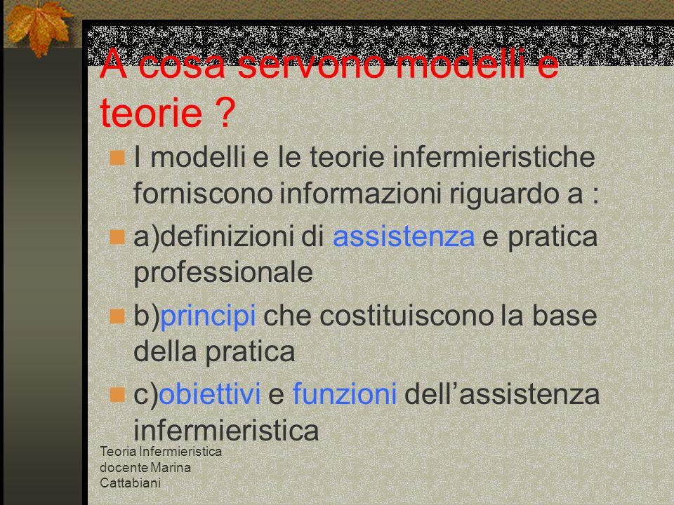 A cosa servono modelli e teorie