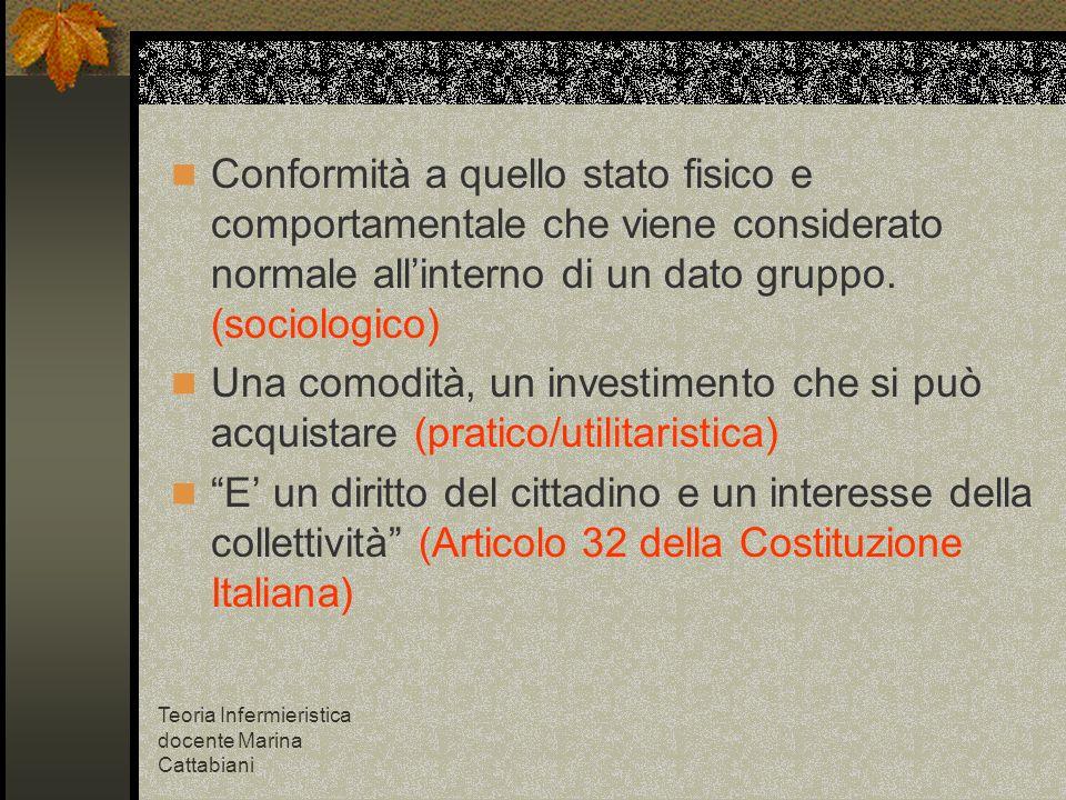 Conformità a quello stato fisico e comportamentale che viene considerato normale all'interno di un dato gruppo. (sociologico)