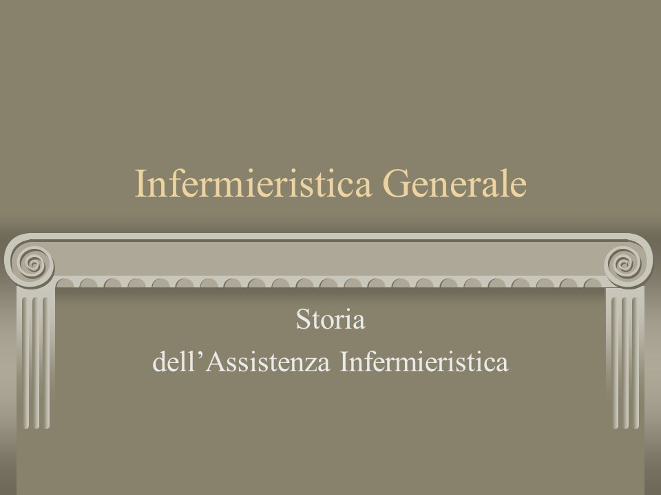 Infermieristica Generale