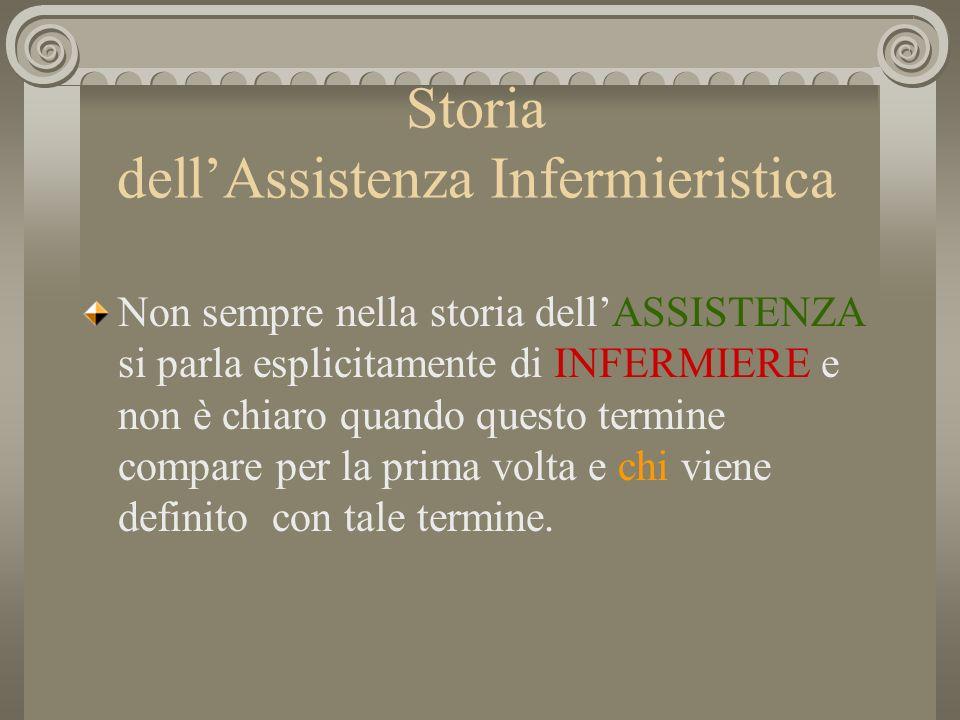 Storia dell'Assistenza Infermieristica