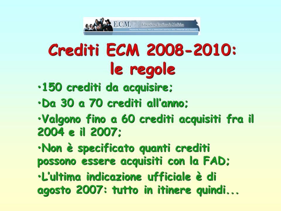 Crediti ECM 2008-2010: le regole